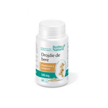 Drojdie de bere 500 mg, 60 capsule, Rotta Natura