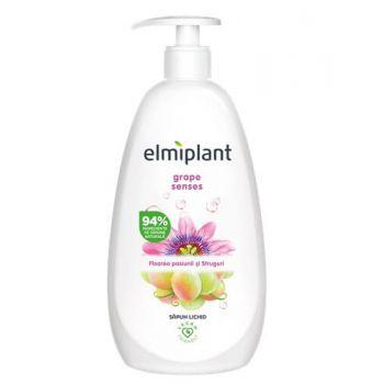 Sapun lichid Elmiplant Grape Sense cu floarea pasiunii si struguri, 500 ml