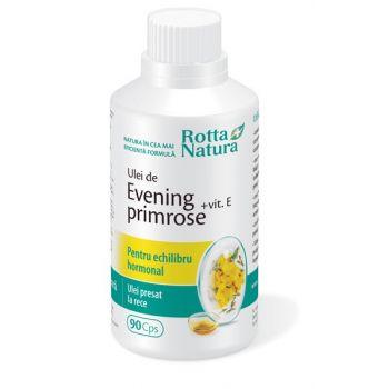 Evening Primrose + Vitamina E, 90 capsule, Rotta Natura