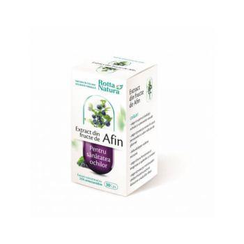 Extract din fructe de Afin, 30 capsule, Rotta Natura