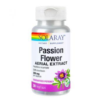 Floarea-pasiunii (Passion Flower 250mg) Secom, 30 cps, Solaray