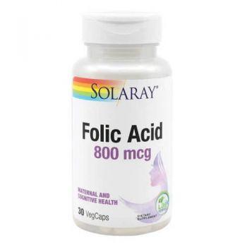 Folic Acid 800 mcg Secom, 30 capsule, Solaray