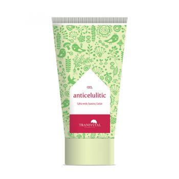 Gel Anticelulitic (Cafea Verde, Guarana si Castan), 150 ml, Transvital