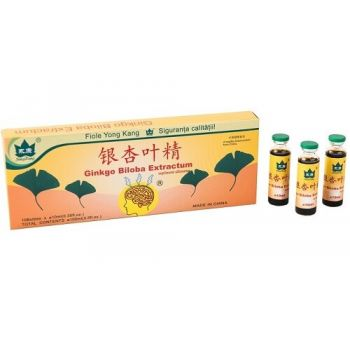 Supliment Ginkgo Biloba Yongkang, 10 fiole