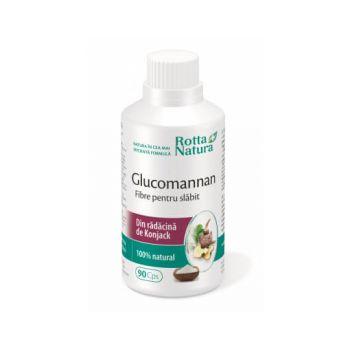 Glucomannan fibre pentru slabit, 90 capsule, Rotta Natura