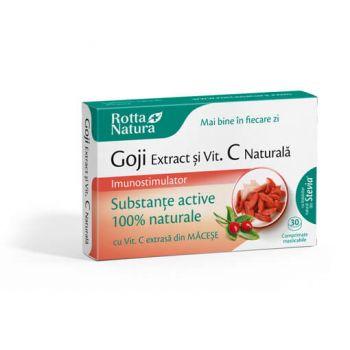 Goji extract + Vitamina C naturala, 30 cpr, Rotta Natura