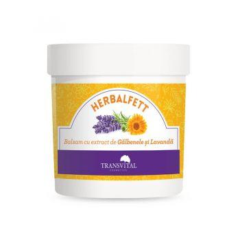 Herbalfett, balsam cu extr. de galbenele si lavanda, 250 ml, Transvital