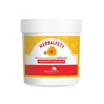 Herbalfett Balsam cu extract de Galbenele, vitamina E si vitamina A, 250 ml