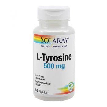 L-Tyrosine 500mg, 50 capsule, Secom