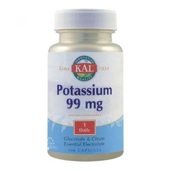 Potasiu 99 mg Secom, 100 capsule