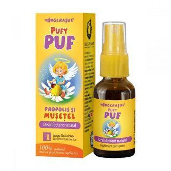 PufyPUF propolis si musetel spray, 20 ml, Dacia Plant