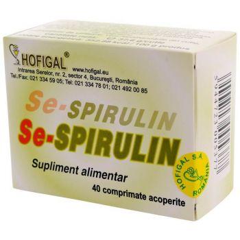 Se-Spirulin, 40 comprimate, Hofigal