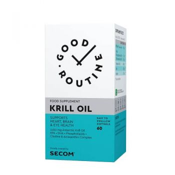 Supliment Krill Oil Secom, 60 cps, Good Routine