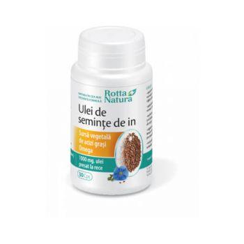Ulei de seminte de In, 30 capsule, Rotta Natura