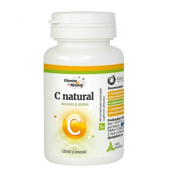 Vitamina C cu catina si amalaki, 60 cpr masticabile, Dacia Plant