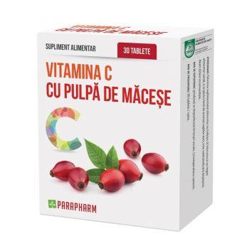 Vitamina C cu pulpa de macese, 30 tablete, Parapharm