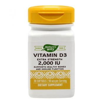Vitamina D3 2000 UI Secom, 30 capsule, Nature's Way