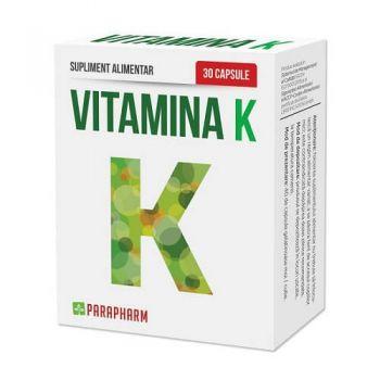 Vitamina K, 30 capsule, Parapharm
