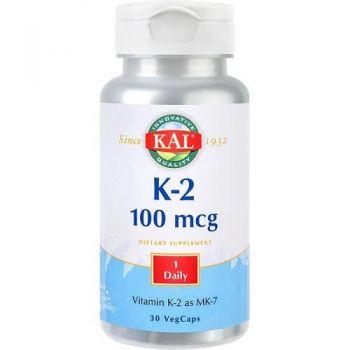 Vitamina K2 100 mcg Secom, 30 capsule, Kal