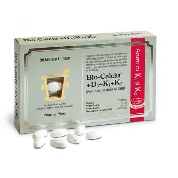 Bio-Calciu + D3 + K1 + K2, 30 tb, Pharma Nord
