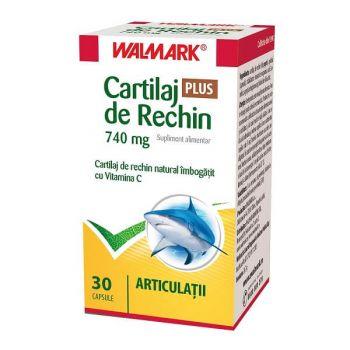Cartilaj de Rechin Plus 740 mg cu Vitamina C, 30 capsule, Walmark