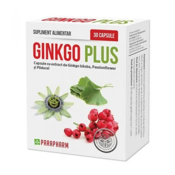 Ginkgo Plus, 30 cps, Parapharm