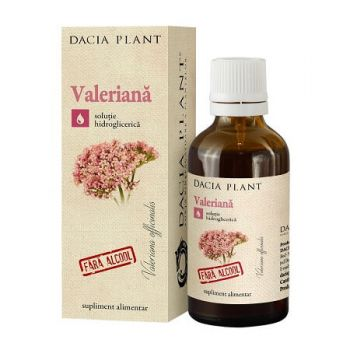 Tinctura de Valeriana Extract natural fara alcool, 50 ml, Dacia Plant